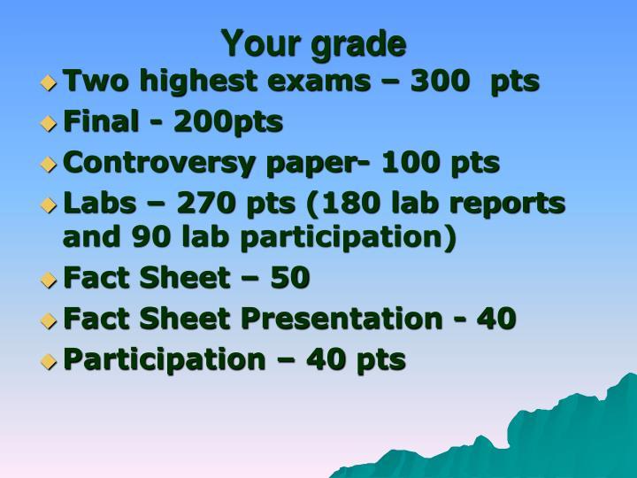 Your grade
