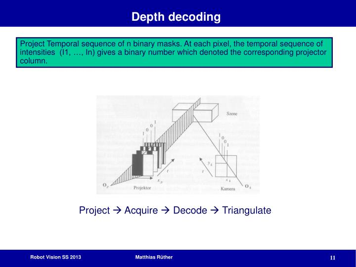 Depth decoding