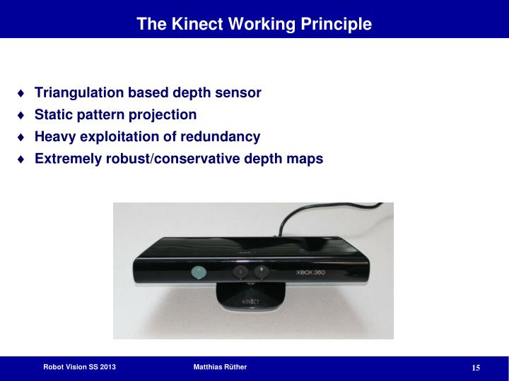 The Kinect Working Principle