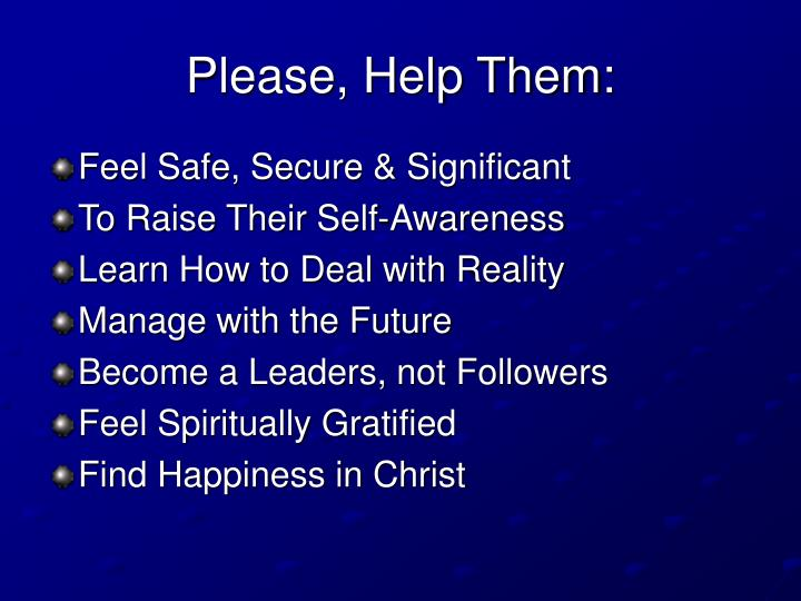 Please, Help Them: