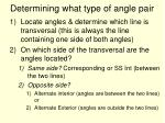 determining what type of angle pair