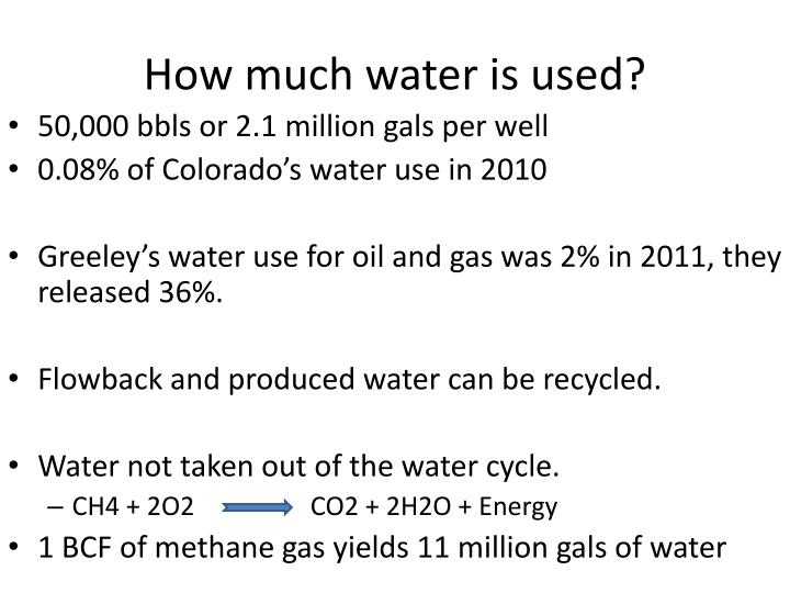 How much water is used?