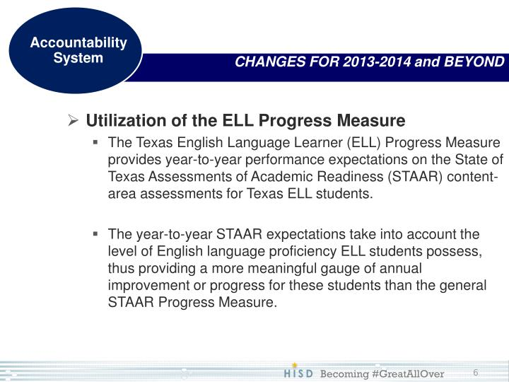 CHANGES FOR 2013-2014 and BEYOND