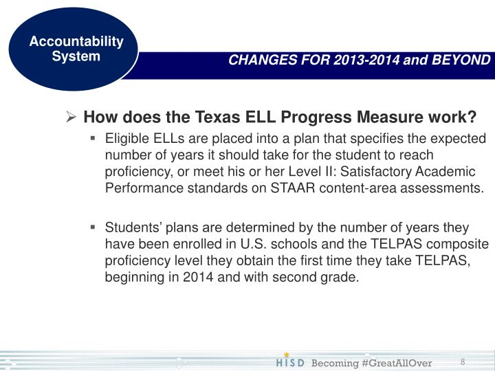 How does the Texas ELL Progress Measure work?