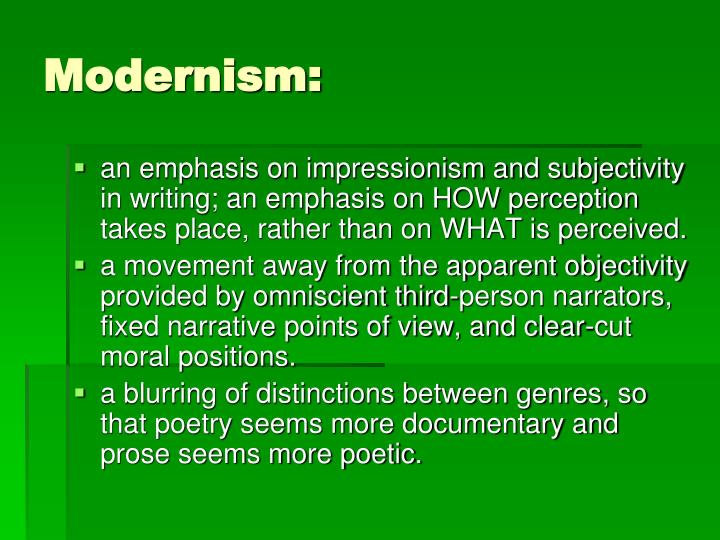 Modernism: