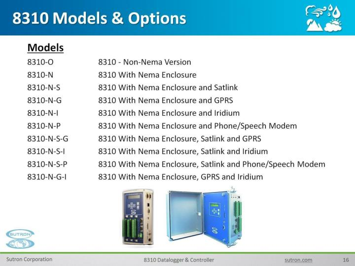8310 Models & Options