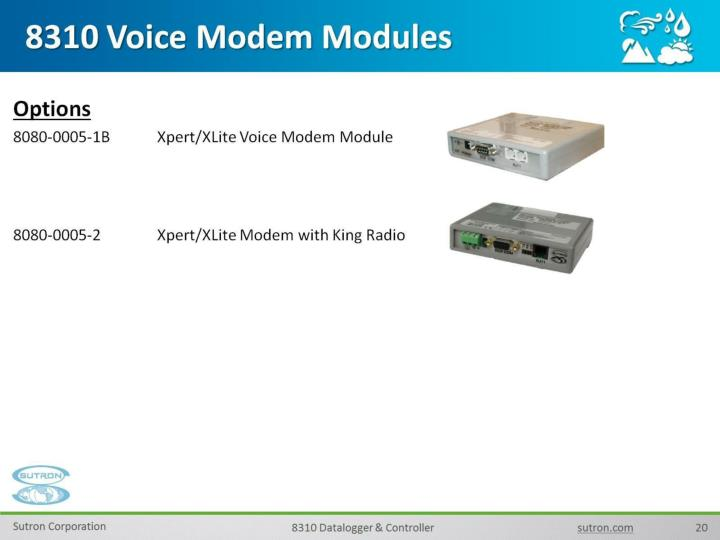 8310 Voice Modem Modules