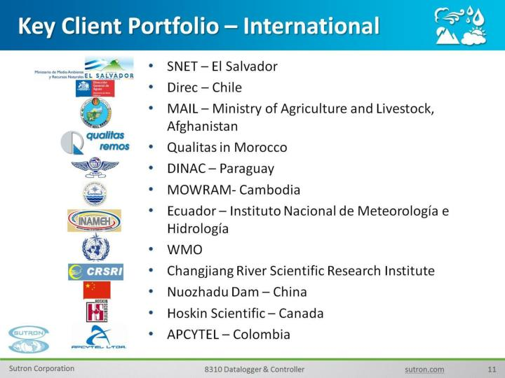Key Client Portfolio – International