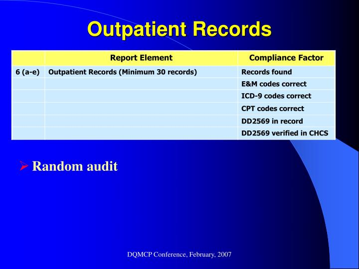 Outpatient Records