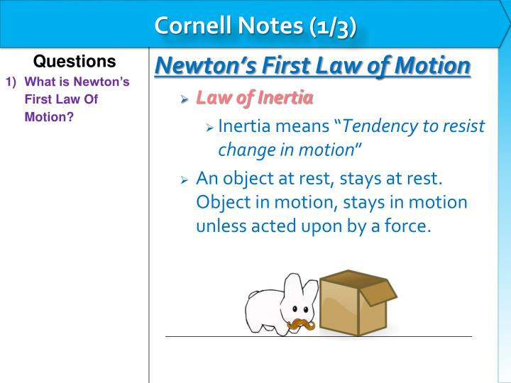 Cornell Notes (1/3)