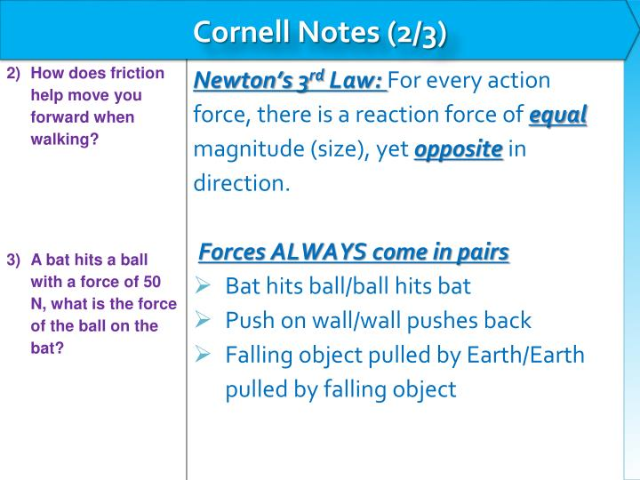 Cornell Notes (2/3)