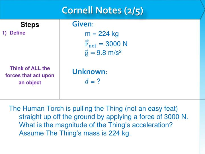 Cornell Notes (2/5)