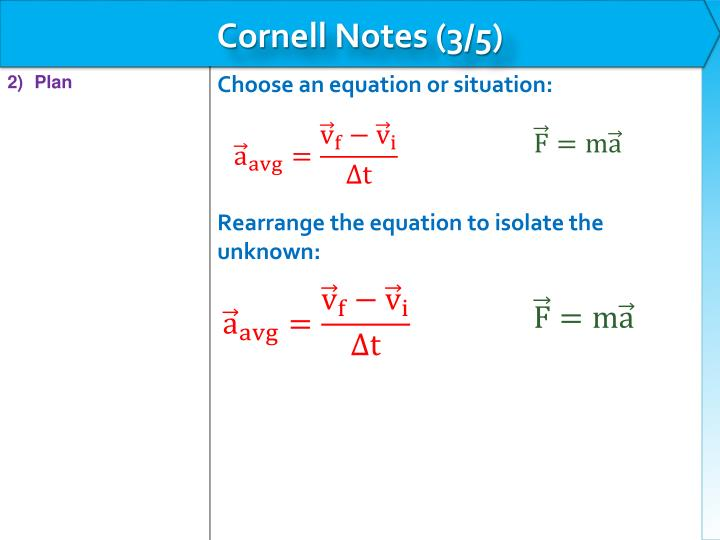 Cornell Notes (3/5)