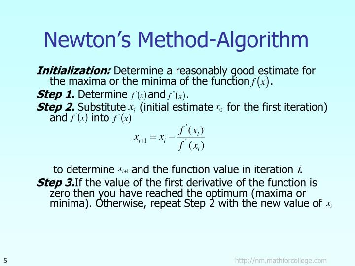 Newton's Method-Algorithm