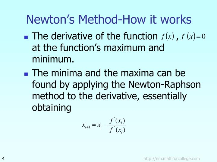 Newton's Method-How it works