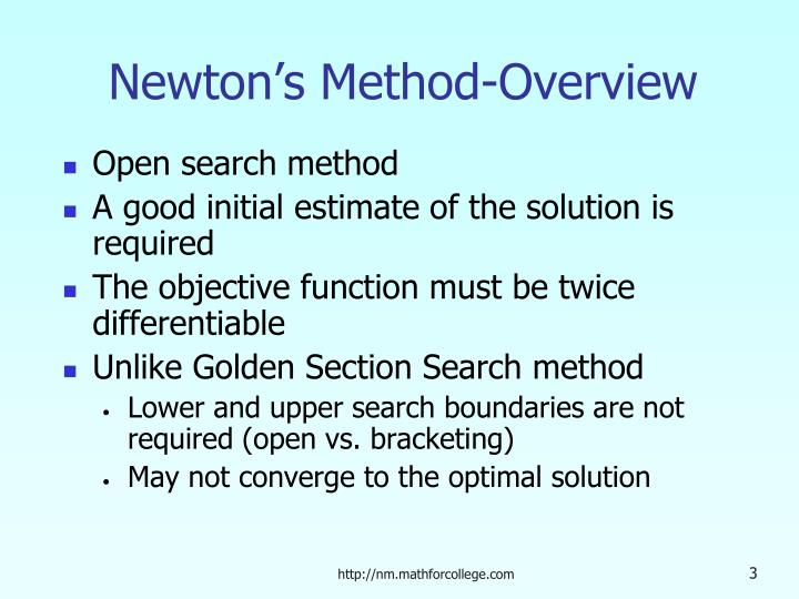 Newton's Method-Overview