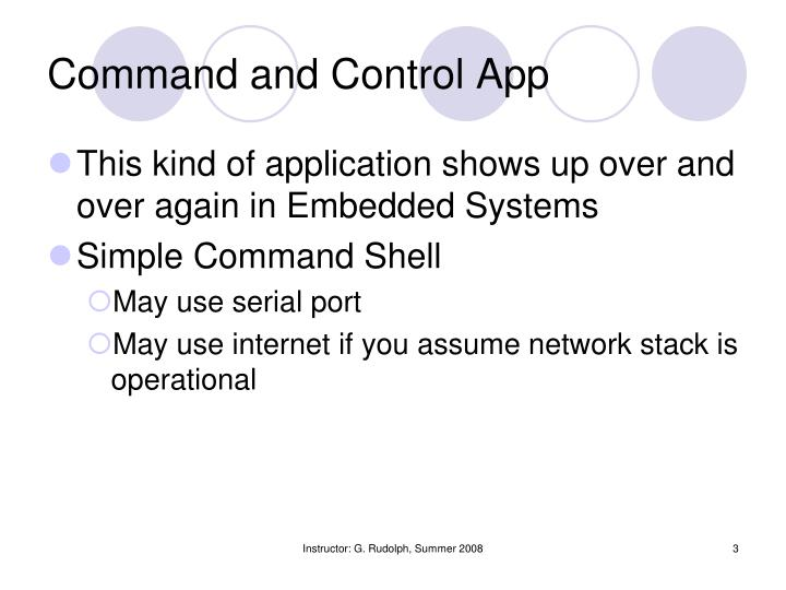 Command and Control App