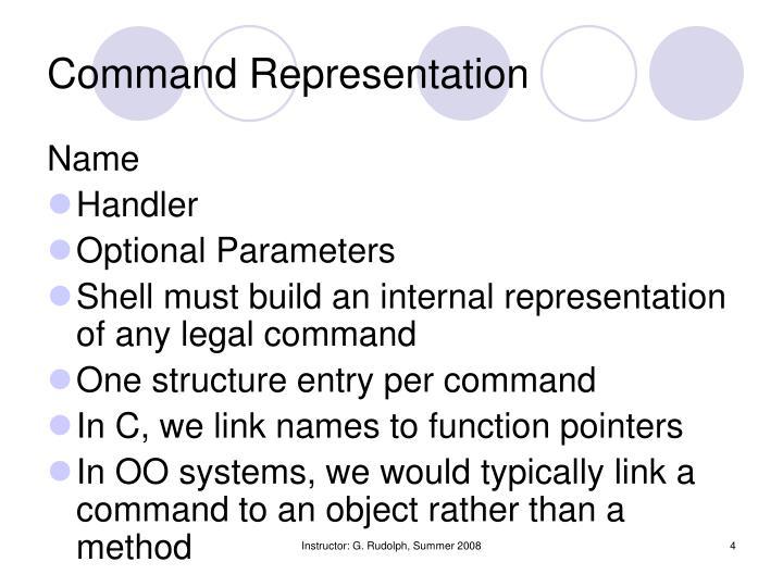Command Representation