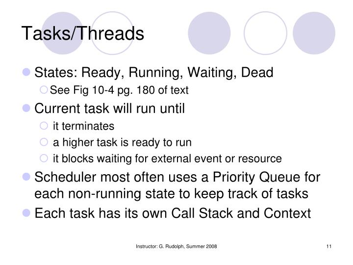 Tasks/Threads