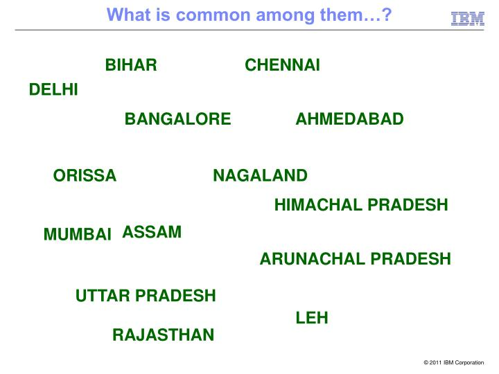 What is common among them…?