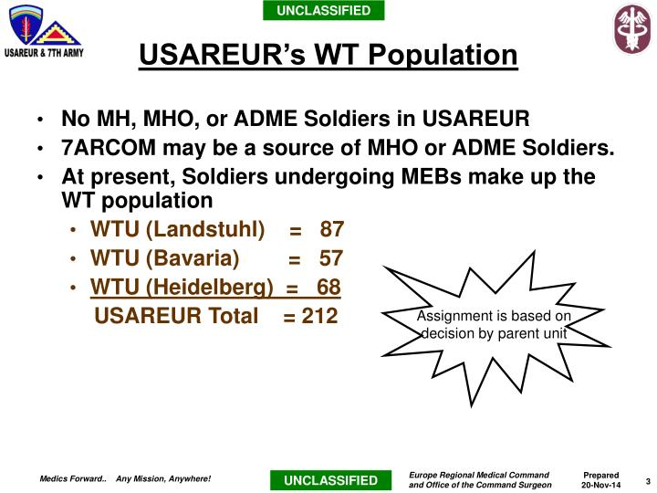 No MH, MHO, or ADME Soldiers in USAREUR