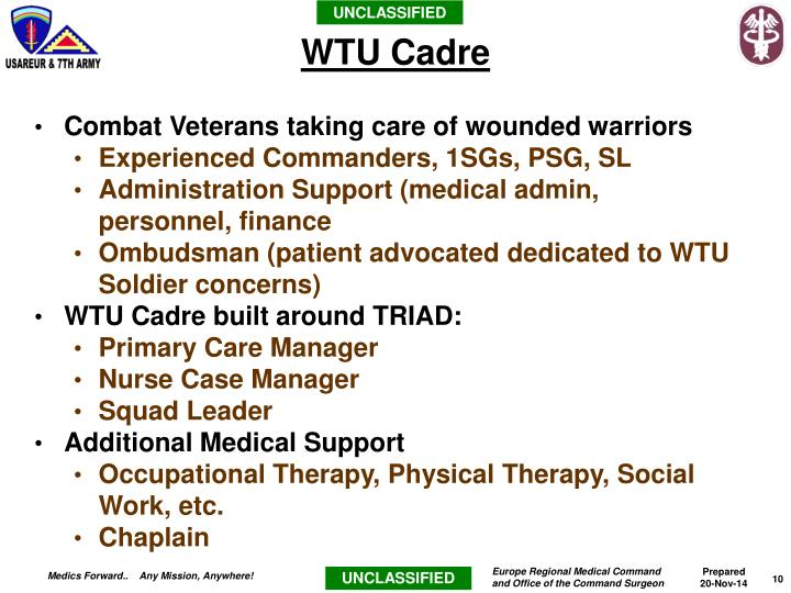 Combat Veterans taking care of wounded warriors