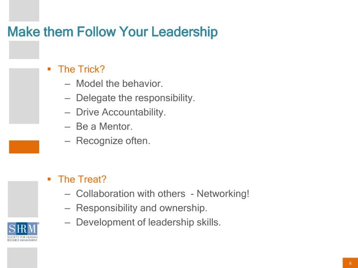 Make them Follow Your Leadership