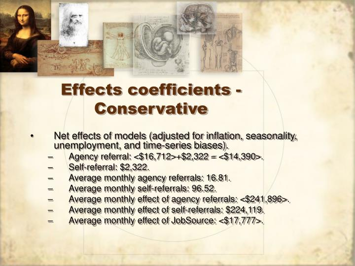 Effects coefficients - Conservative