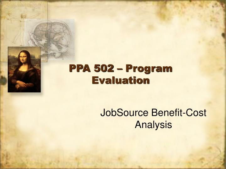 Ppa 502 program evaluation