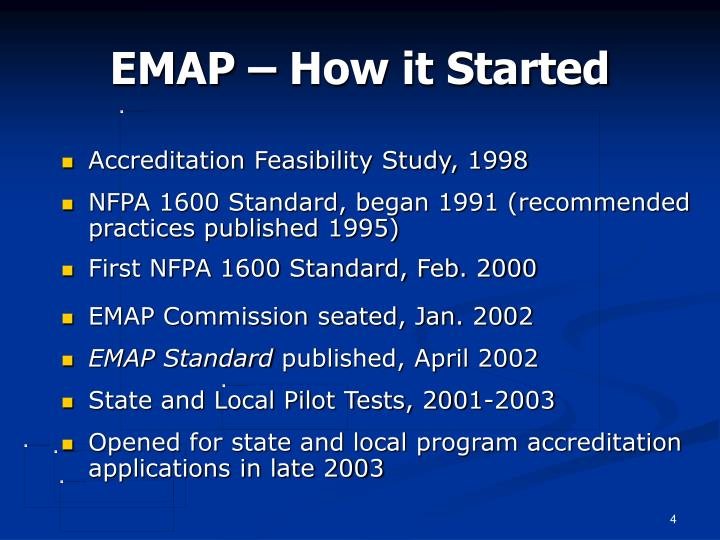 EMAP – How it Started