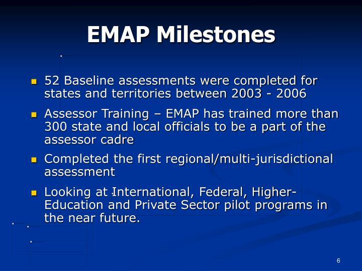EMAP Milestones