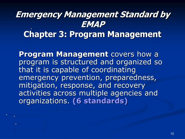Emergency Management Standard by EMAP