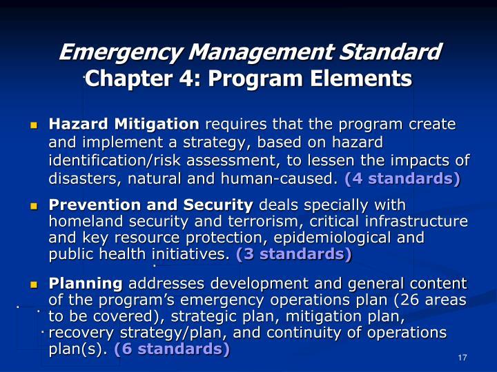 Emergency Management Standard