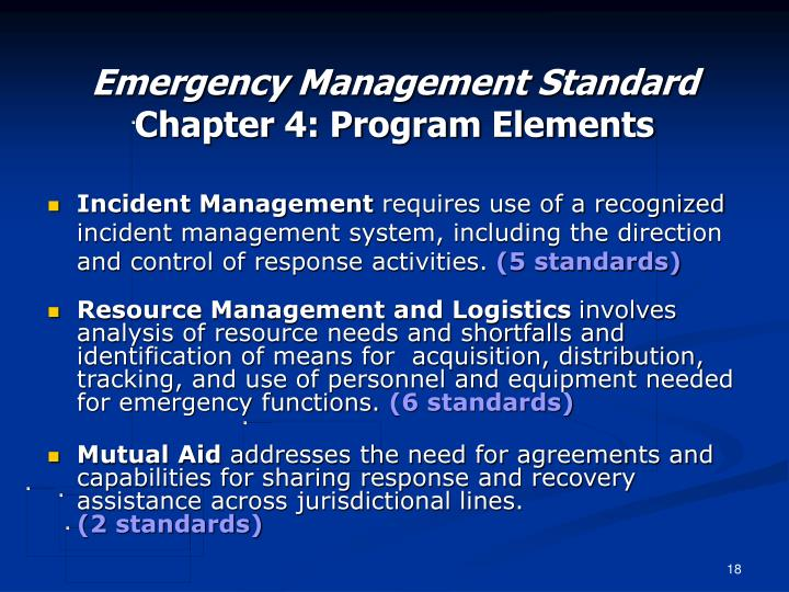 Emergency Management Standard