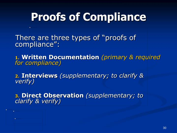 Proofs of Compliance