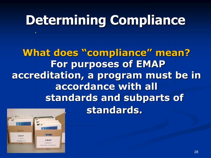 "What does ""compliance"" mean?"