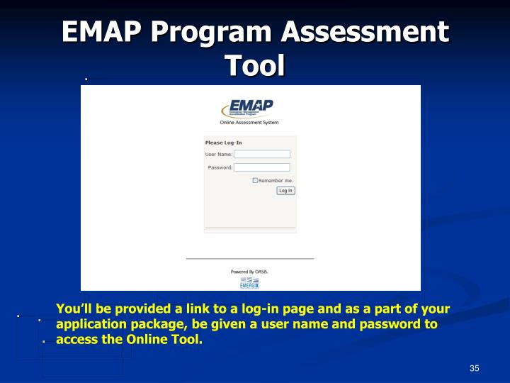 EMAP Program Assessment Tool