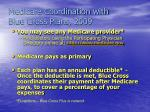 medicare coordination with blue cross plans 20091