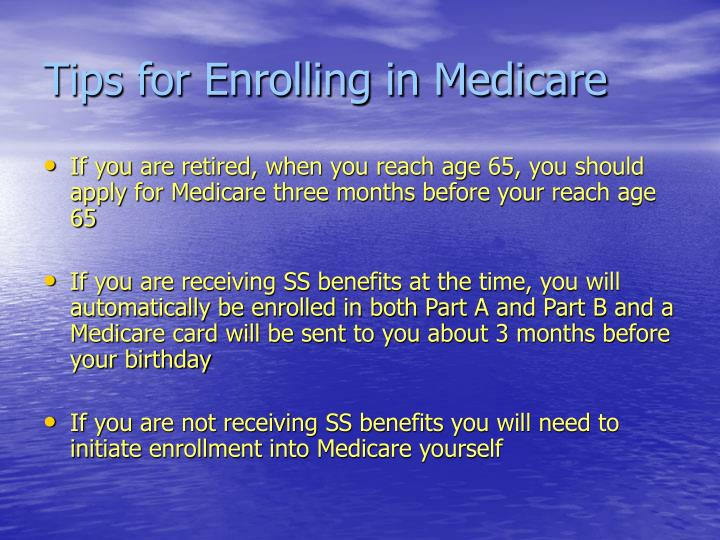 Tips for Enrolling in Medicare