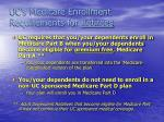 uc s medicare enrollment requirements for retirees