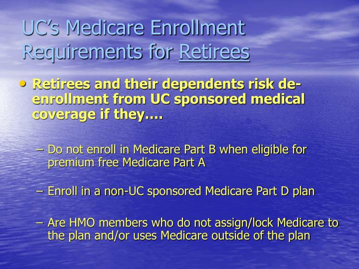 UC's Medicare Enrollment Requirements for