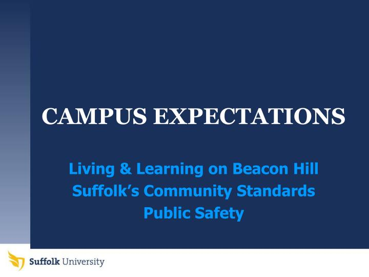 Campus expectations