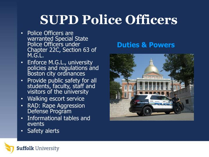 SUPD Police Officers