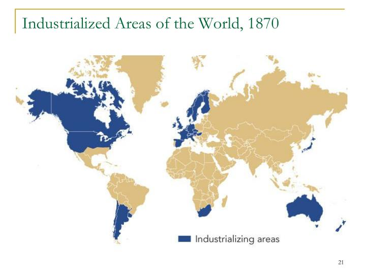 Industrialized Areas of the World, 1870