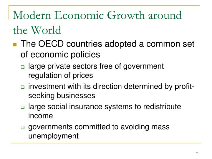 Modern Economic Growth around the World