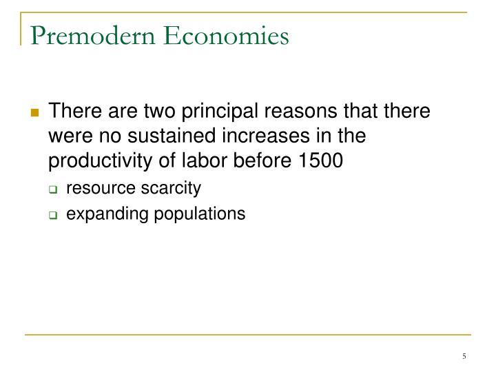 Premodern Economies
