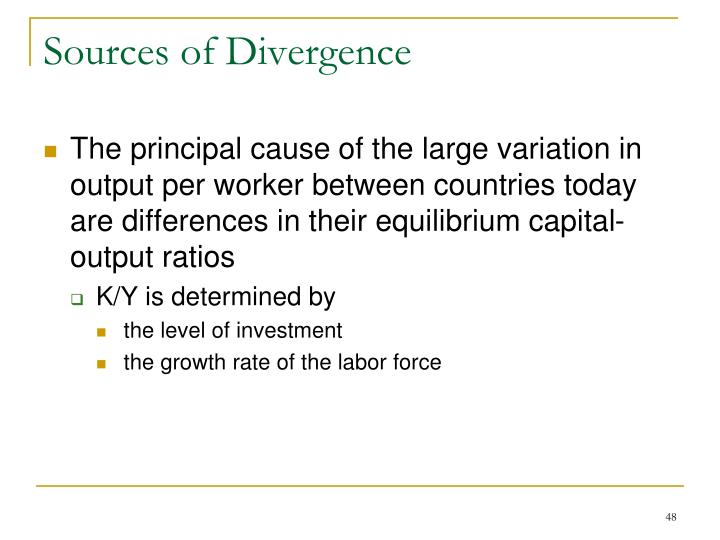 Sources of Divergence