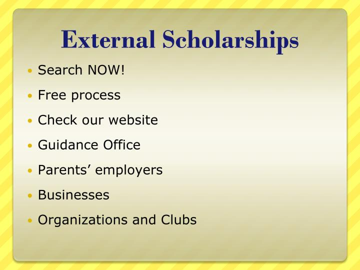 External Scholarships
