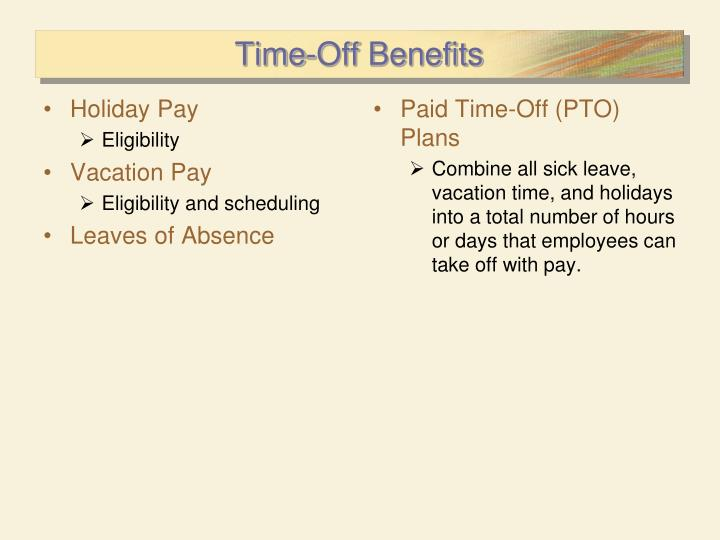 Holiday Pay