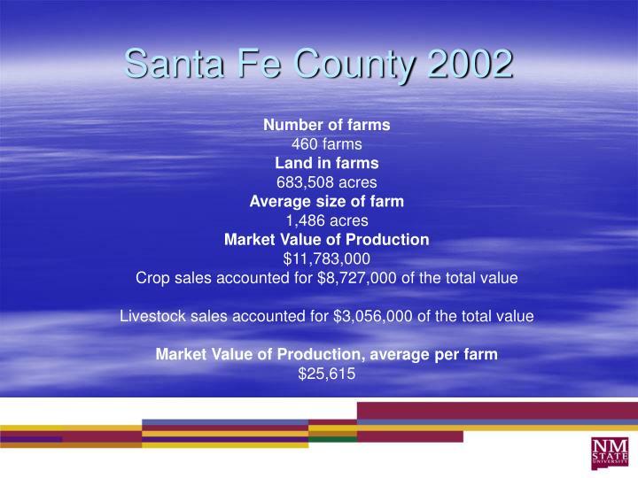Santa Fe County 2002